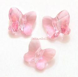 6 Swarovski Elements Crystal 5754 Butterfly Bead 10mm Light Rose Pink