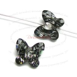 6 Swarovski Elements Crystal 5754 Butterfly Bead 8mm Silver Night