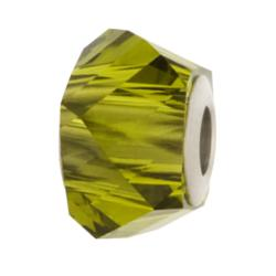 1x Swarovski Elements Crystal 5920 Becharmed Helix Bead Olivine 14mm