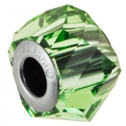 1x Swarovski Elements Crystal 5928 Becharmed Helix Bead Peridot 14mm
