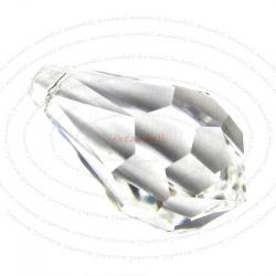 4 Swarovski Elements 6000 Teardrop Clear 11mm Pendant