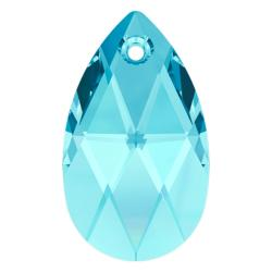 Teardrop Swarovski Crystal 6106 Pendant Aquamarine 16mm