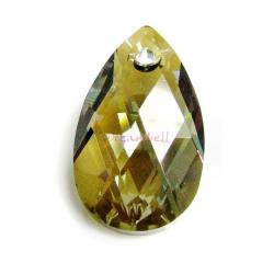 Teardrop Swarovski Crystal 6106 Bronze Shade Pendant 16mm
