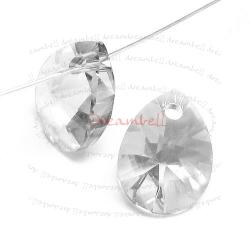 4x Swarovski Crystal 6128 Xilion Mini Pear Pendant Charm Clear 10mm
