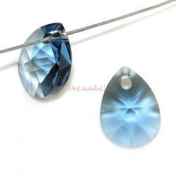 4x Swarovski Crystal 6128 Xilion Mini Pear Pendant Charm Denim Blue 10mm