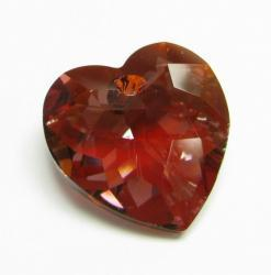 1x SWAROVSKI 6215 Red Magma HEART CRYSTAL PENDANT 18mm