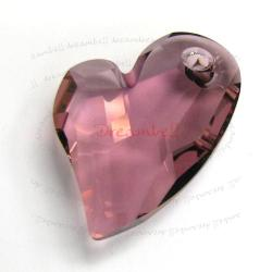 Swarovski 6261 Crystal Devoted 2 U Heart Charm pendant Antique Pink 27mm
