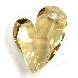 Swarovski 6261 Crystal Devoted 2 U Heart Charm pendant Golden Shadow 17mm
