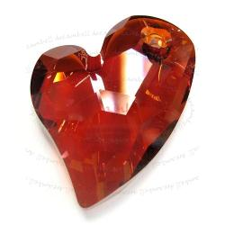 Swarovski 6261 Crystal Devoted 2 U Heart Charm pendant Red Magma 17mm