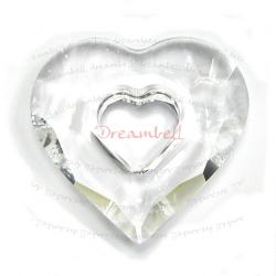 Swarovski 6262 Crystal Miss U Heart Charm pendant Clear 17mm