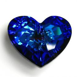 Swarovski 6264 Crystal Truly in Love Heart Charm Pendant Bermuda Blue 28mm