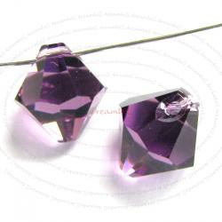6x Swarovski crystal 6301 Top Drill Bicone AMETHYST 8mm