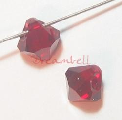 12x Swarovski crystal 6301 Top Drill Bicone Siam RED  bead 6mm