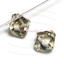6x Swarovski crystal 6301 Top Drill Bicone Greige 8mm