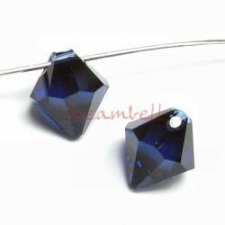 6x Swarovski crystal 6301 Top Drill Bicone Dark Indigo bead 8mm