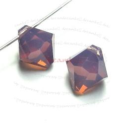 12x Swarovski crystal 6301 Top Drill Bicone CYCLAMEN OPAL 6mm
