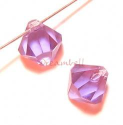 12x Swarovski Crystal Elements 6328 Top Drill Bicone Tanzanite 6mm