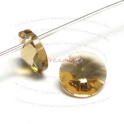 12x Swarovski Crystal 6428 Xilion Rivoli Pendant Charm Light Colorado Topaz 8mm