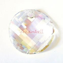 1x SWAROVSKI CRYSTAL 6621 CLEAR MOONLIGHT TWIST PENDANT 18mm NEW