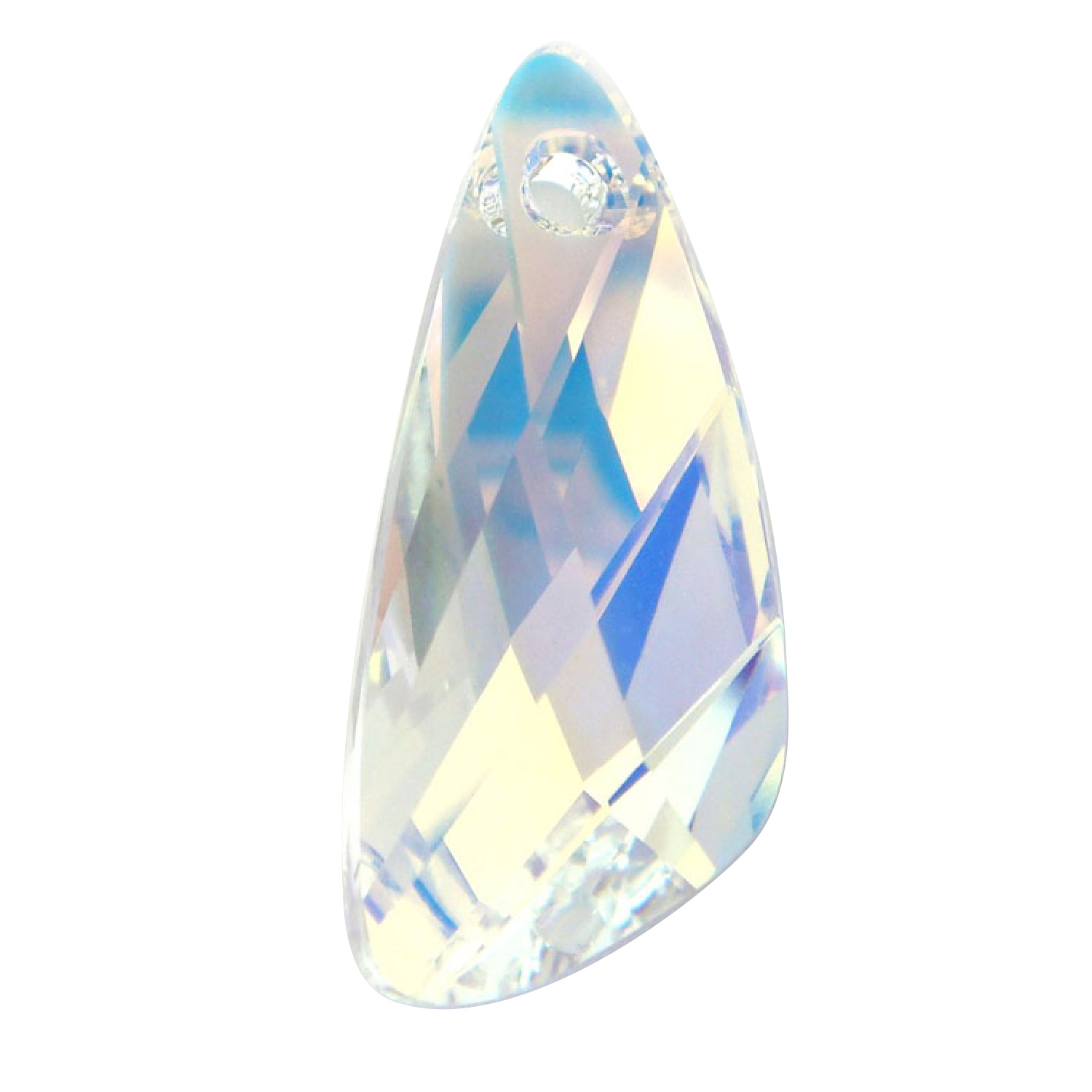 1 SWAROVSKI Crystal 6690 Wing Pendant Clear AB  23mm