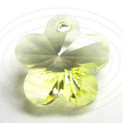 2x Swarovski Elements Crystal 6744 Flower Charm Bead 14 mm Jonquil