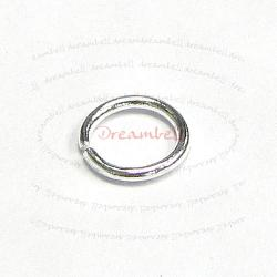 100x Silver plated on Metal Open Jump Rings round Wire 6mm