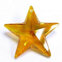 1x Swarovski Elements Crystal Star Pendant Topaz AB 8815 (28mm)