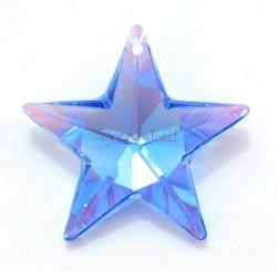 1x Swarovski Elements Crystal Star Pendant Sapphire Blue AB 8815 (28mm)