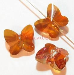 6 Swarovski Elements Crystal 5754 Butterfly Bead 8mm Copper