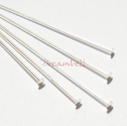 20x Sterling Silver Headpins Head pins 22ga 1.5""