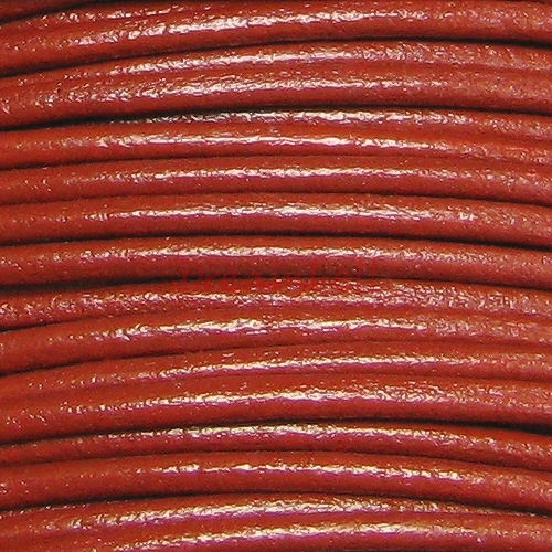 2 YARDS Natural Leather BEAD STRINGING CORD 2mm Red