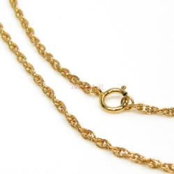 1x Italian 14k Gold Filled Rope Chain Necklace 18""