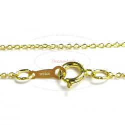 1x Italian 14k Gold Filled Rolo Cable Chain Necklace 16""
