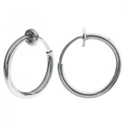 2x Rhodium plated Metal Hoop Clip French Hook earwires Ear Wire