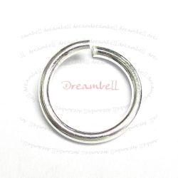 6x Sterling silver Open Jump Rings Bead 17ga 10mm