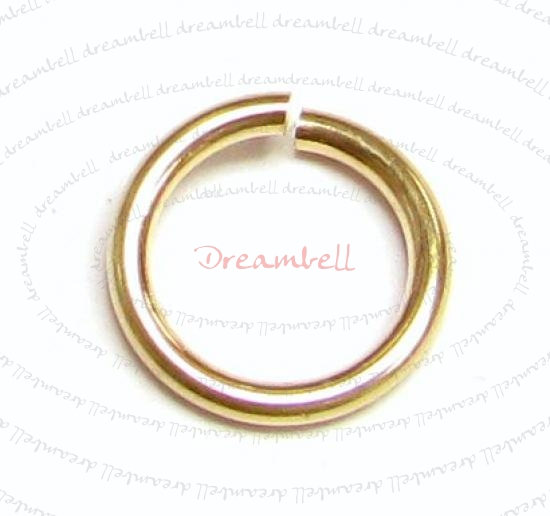 10x 14K Gold Filled  Open Jump Rings 8mm 18 gauge Wire