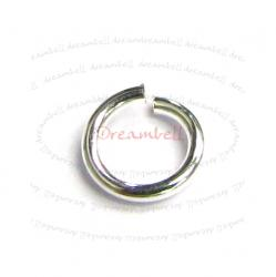 50x Bright Silver Filled .925 Round Open Jump Rings 22 Gauge Wire 4mm 22GA