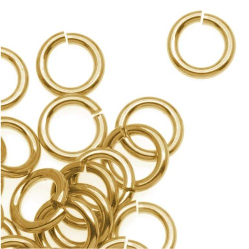 10x 14K Gold Filled  Open Jump Rings 5mm 22 gauge Wire