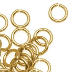 10x 14k Gold Filled Twist & Lock 18ga Jumplock Jump Rings 6mm 18 Gauge Wire