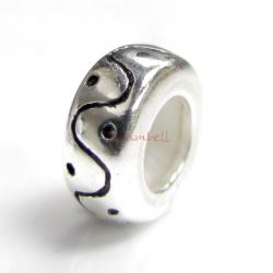 Sterling Silver STOPPER RUBBER CURVE DOT ROUND 8.3mm for European Charm Bracelets
