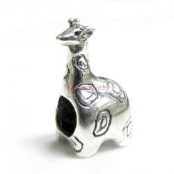 1x Sterling silver Giraffe Bead for European Charm Bracelets