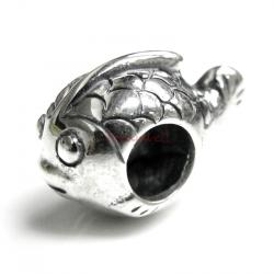 Sterling Silver Cute Fish Bead for European Charm Bracelets