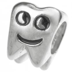 Sterling silver Smily Tooth bead for European Charm Bracelets