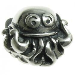 Sterling Silver Cute Octopus Bead for European Charm Bracelets