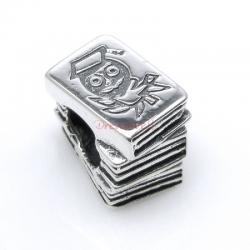 1x Antique 925 Sterling Silver Education Childern Story Book Bead for European Charm Bracelets