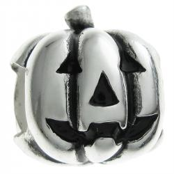 .925 Sterling Silver Halloween Pumpkin Bead for European Charm Bracelet