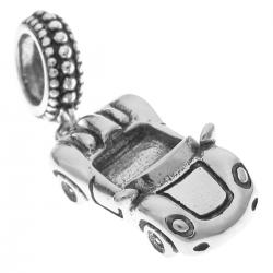 925 Sterling Silver Luxary Convertible Racing Car Dangle Bead for European Charm Bracelets