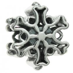 925 Sterling Silver Christmas Winter Snowflake Bead for European Charm Bracelets
