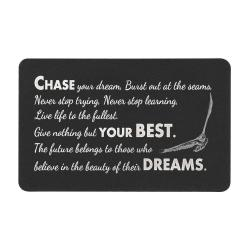 Anodized Aluminum Black Chase Your Dream Personalized Photo Custom Engrave Metal Wallet Mini Love Insert Gift Note Card