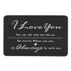 I Love You Forever Always Personalized Text Photo Engraved Wallet Mini Insert Love Note Card Family Anniversary Groom Bride Gift Keepsake